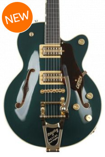 Gretsch G6659TG Players Edition Broadkaster Jr. Center Block - Cadillac Green, Bigsby Tailpiece