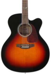 Takamine GJ72CE 12-string - Brown Sunburst