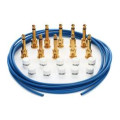 George Ls Effects Cable Kit - Blue/GoldEffects Cable Kit - Blue/Gold