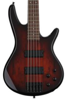 Ibanez GSR205SMCNB GIO - Spalted Maple Top Charcoal Brown Burst