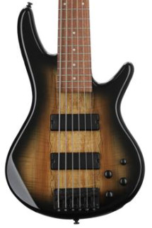 Ibanez GSR206SMNGT GIO - Spalted Maple Top Natural Grey Burst