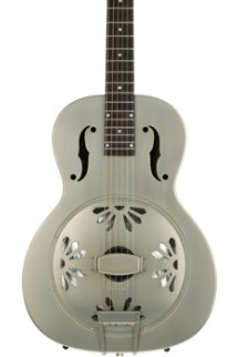 Gretsch G9201 Honey Dipper Round-neck, Brass Body Biscuit Cone Resonator - Shed Roof