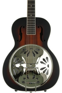 Gretsch G9220 Bobtail Round-neck Mahogany Body Spider Cone Resonator - 2 Color Sunburst