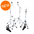 Mapex Armory 5-piece Hardware Pack with Single Pedal - Chrome PlatedArmory 5-piece Hardware Pack with Single Pedal - Chrome Plated