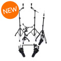 Mapex Armory 5-piece Hardware Pack with Double Pedal - Black PlatedArmory 5-piece Hardware Pack with Double Pedal - Black Plated