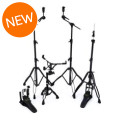 Mapex Armory 5-piece Hardware Pack with Single Pedal - Black PlatedArmory 5-piece Hardware Pack with Single Pedal - Black Plated