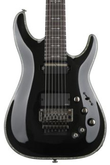 Schecter Hellraiser C-7 with Floyd Rose & Sustainiac - Black
