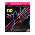 DR Strings NPE-10 Neon Hi-Def Pink K3 Coated Medium Electric Guitar Strings