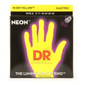 DR Strings NYE-9 Neon Hi-Def Yellow K3 Coated Lite Electric Guitar Strings