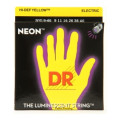 DR Strings NYE-9/46 Neon Hi-Def Yellow K3 Coated Lite-Heavy Electric Guitar Strings