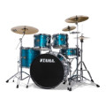Tama Imperialstar Complete Drum Set with Bonus Pack - 5-piece - Hairline BlueImperialstar Complete Drum Set with Bonus Pack - 5-piece - Hairline Blue