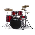 Tama Imperialstar Complete Drum Set with Bonus Pack - 5-piece - Vintage RedImperialstar Complete Drum Set with Bonus Pack - 5-piece - Vintage Red