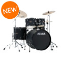 Tama Imperialstar Complete Drum Set - 5-piece - Black with Black Nickel Hardware