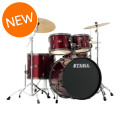 Tama Imperialstar Complete Drum Set - 5-piece - Vintage Red with Black Nickel HardwareImperialstar Complete Drum Set - 5-piece - Vintage Red with Black Nickel Hardware