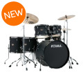 Tama Imperialstar Complete Drum Set - 6-piece - Black with Black Nickel HardwareImperialstar Complete Drum Set - 6-piece - Black with Black Nickel Hardware