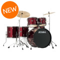 Tama Imperialstar Complete Drumset - 6-piece - Vintage Red with Black Nickel HardwareImperialstar Complete Drumset - 6-piece - Vintage Red with Black Nickel Hardware