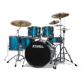Tama Imperialstar Complete Drum Set with Bonus Pack - 6-piece - Hairline BlueImperialstar Complete Drum Set with Bonus Pack - 6-piece - Hairline Blue