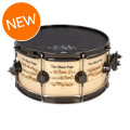 DW Collector's Exotic Icon Snare Drum - Terry Bozzio 'The Black Page' Graphic