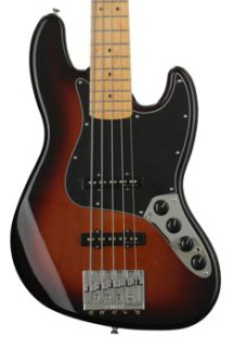 Fender Deluxe Active J Bass V - 3-color Sunburst with Maple Fingerboard