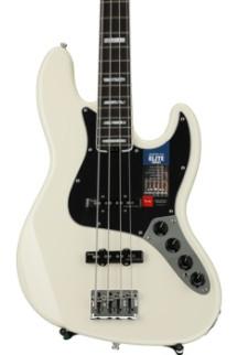 Fender American Elite Jazz Bass - Olympic White, Rosewood Fingerboard