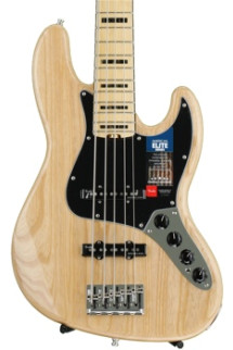 Fender American Elite Jazz Bass V - Natural, Maple Fingerboard