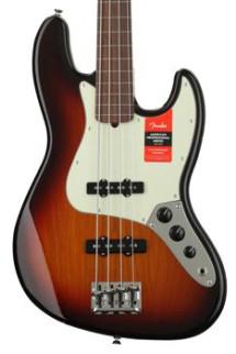 Fender American Professional Fretless Jazz Bass - 3-color Sunburst with Rosewood Fingerboard