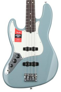 Fender American Professional Jazz Bass, Left-handed - Sonic Gray with Rosewood Fingerboard
