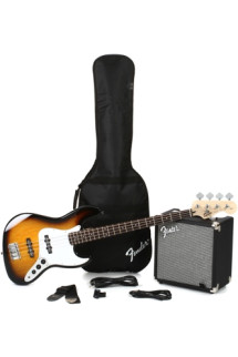 Squier Jazz Bass Pack with Rumble 15 Amplifier - Brown Sunburst