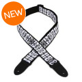 Dunlop Jimi Hendrix Guitar Strap - Black and White LogoJimi Hendrix Guitar Strap - Black and White Logo