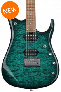 Ernie Ball Music Man John Petrucci JP15 Quilt Maple Top - Teal Burst