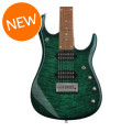 Ernie Ball Music Man John Petrucci JP15 7-String Quilt Maple Top - Teal Burst