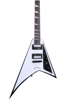 Jackson JS32T Rhoads - White with Black Bevels