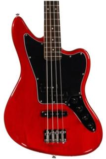Squier Vintage Modified Jaguar Bass Special - Crimson Red Transparent