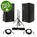 QSC K10 Speaker Pair with Stands and CablesK10 Speaker Pair with Stands and Cables