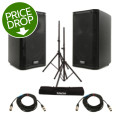 QSC K8 Speaker Pair with Stands and CablesK8 Speaker Pair with Stands and Cables