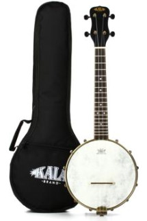 Kala KA-BNJ-BK-C Concert Banjo Ukulele