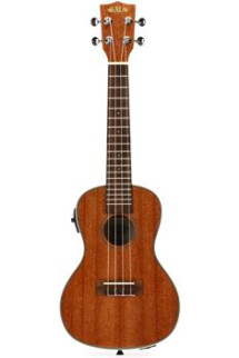 Kala KA-CGE Gloss Mahogany Series Concert Ukulele with EQ