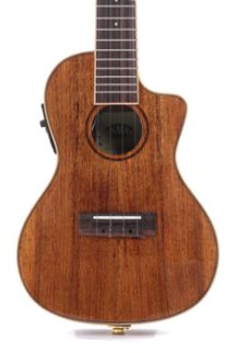 Kala KA-KCGE-C Hawaiian Koa Gloss Series Concert Cutaway Ukulele with EQ