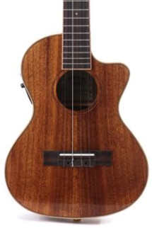 Kala KA-KTGE-C Hawaiian Koa Gloss Series Tenor Cutaway Ukulele with EQ