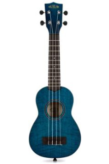 Kala KA-SEM Exotic Mahogany Series Soprano Ukulele - Blue