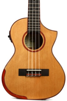 Kala Comfort Beveled Edge Tenor Ukulele - Solid Cedar and Rosewood - Gloss