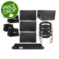 QSC KLA12 4-pack with Totes, Cables, and DriveRack PA2
