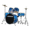 Ludwig 5-piece Junior Drum Set with Cymbals and Hardware - Blue Metallic