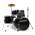 Ludwig 5-piece Junior Drum Set with Cymbals and Hardware - Black