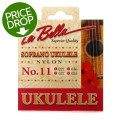 La Bella No. 11 Nylon Ukulele Strings - Soprano ClearNo. 11 Nylon Ukulele Strings - Soprano Clear
