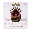 La Bella No. 15 Nylon Ukulele Strings - Soprano BlackNo. 15 Nylon Ukulele Strings - Soprano Black