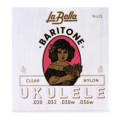 La Bella No. 25 Nylon Ukulele Strings - Baritone Clear