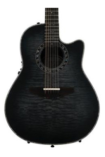 Ovation Legend Plus 12-string - Transparent Black Satin
