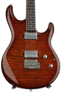 Ernie Ball Music Man Luke III BFR, HH, Flame Maple Top - Hazel Burst
