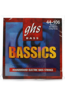 GHS M6000 Bassics Roundwound Long Scale Medium Electric Bass Strings